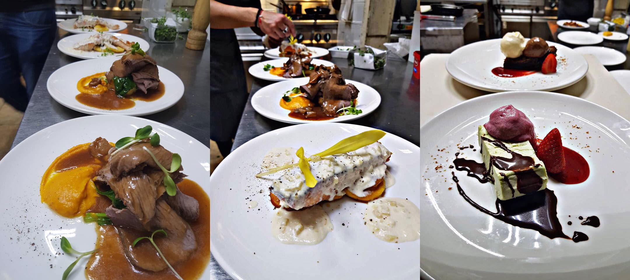 ястията в рибен ресторант Ascua
