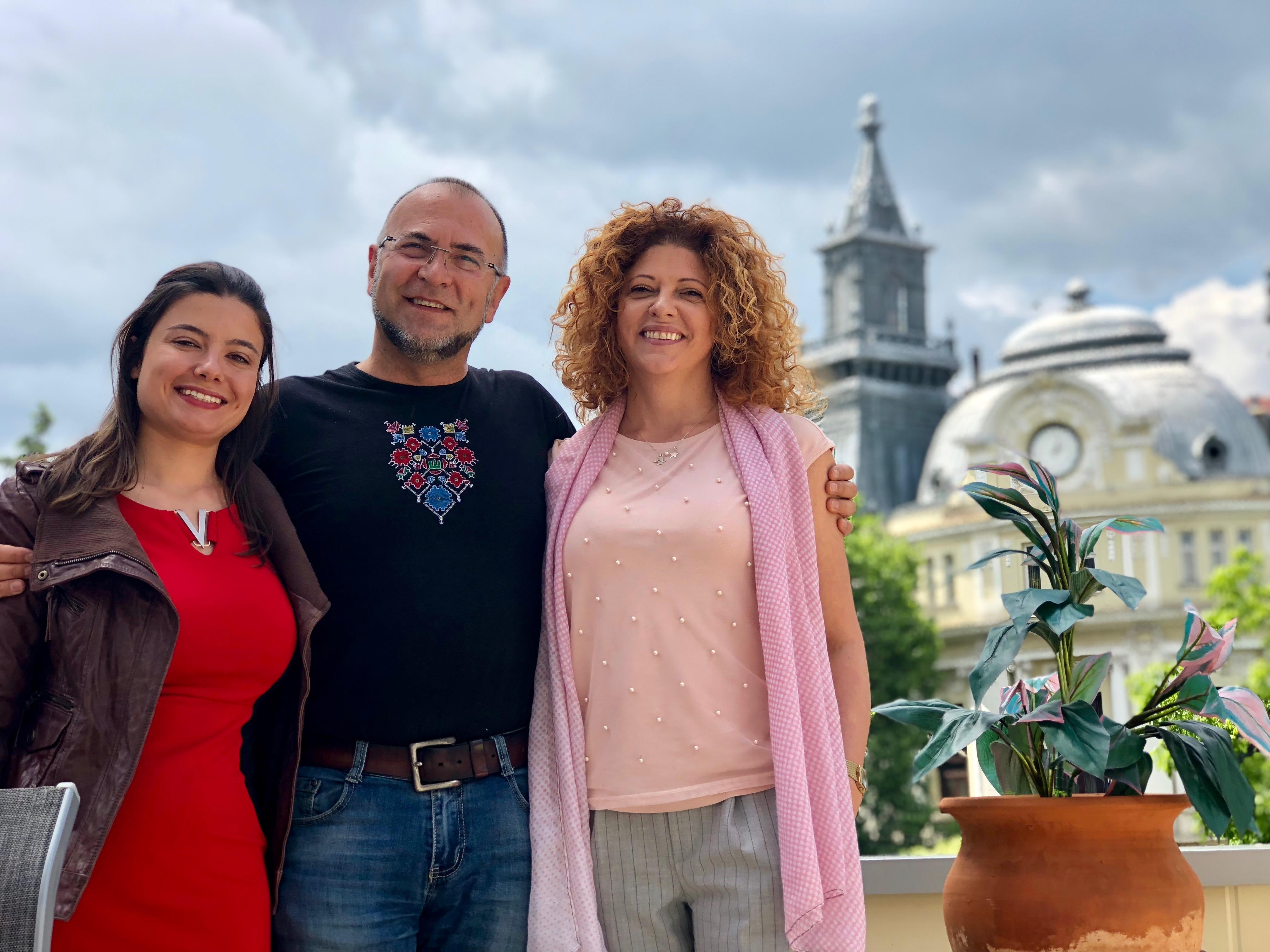 Олга Добрева, Николай Коев и Михаела Тодорова по време на #SofiaRestaurantWek04