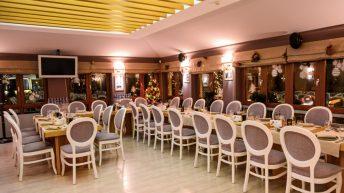 Един от салоните на ресторант Петрус София