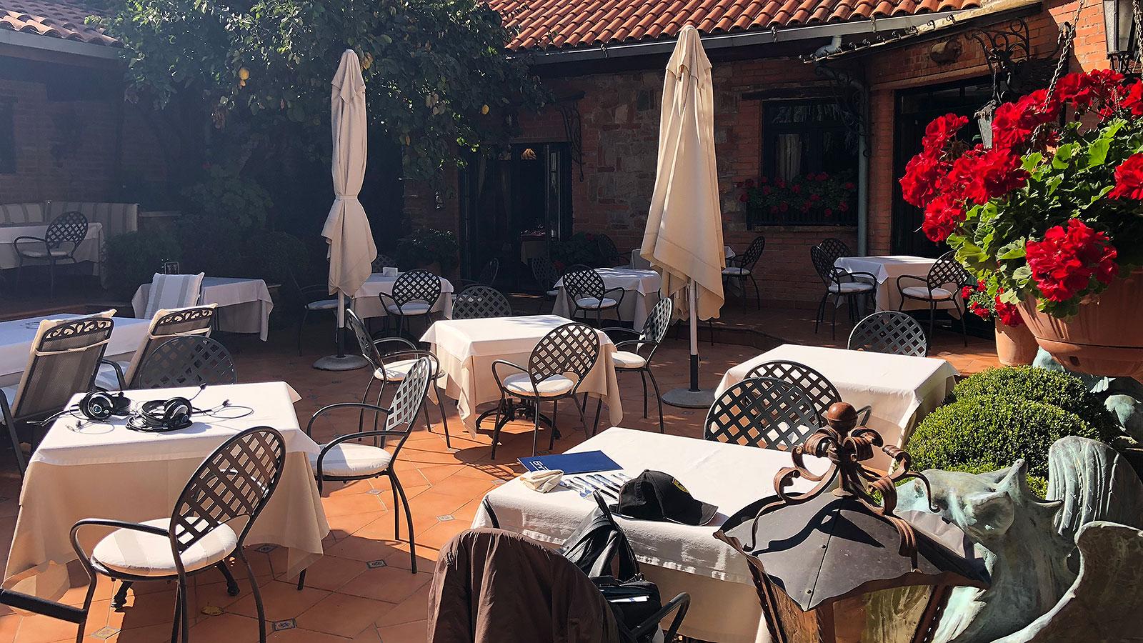 Градината на кастело ди Сан Марино – ресторант Сол и пипер