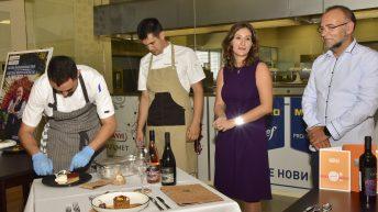 Гергана и екипа на ресторант The View по време на конкурса в МЕТРО академията