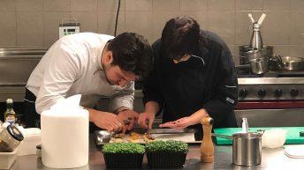 в кухнята на L'Instant с шеф Антоан Верест