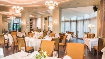 Вътрешния салон на френския ресторант The Restaurant