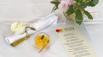 Менюто на Mastercard Priceless Dinner in the Palace