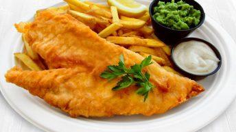 Fish and Chips с риба треска