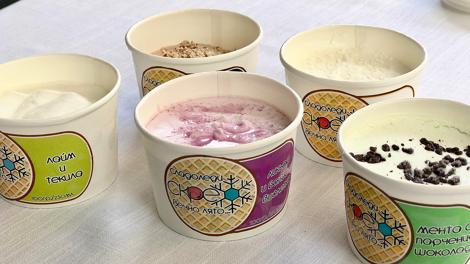 Поглед отблизо към петте вкуса на сладоледите Скреж