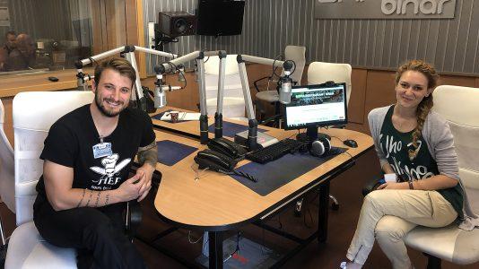 Виктор Жечев и Петя Зунгурлиева в Радио София